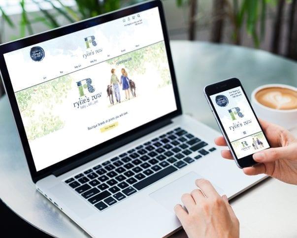 website design on mobile and desktop