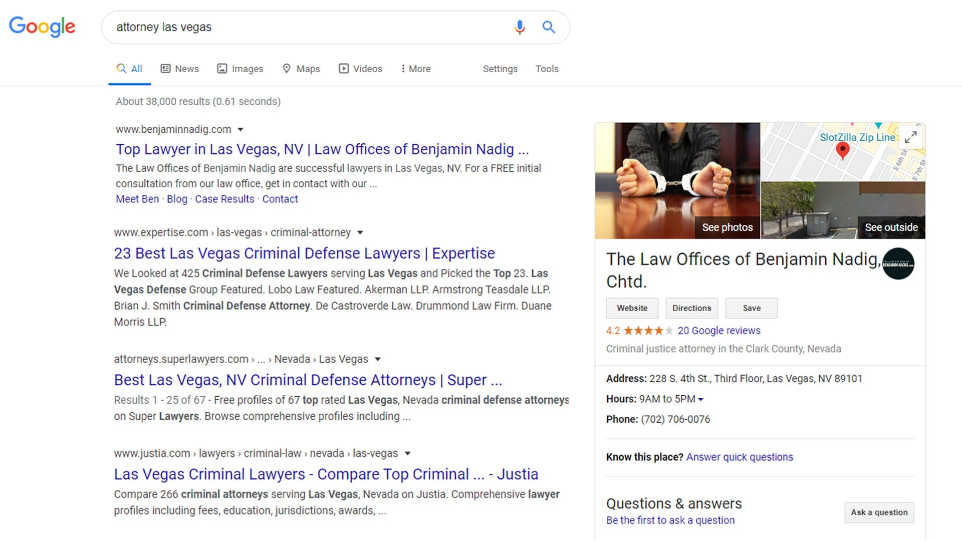 local seo listing for attorney