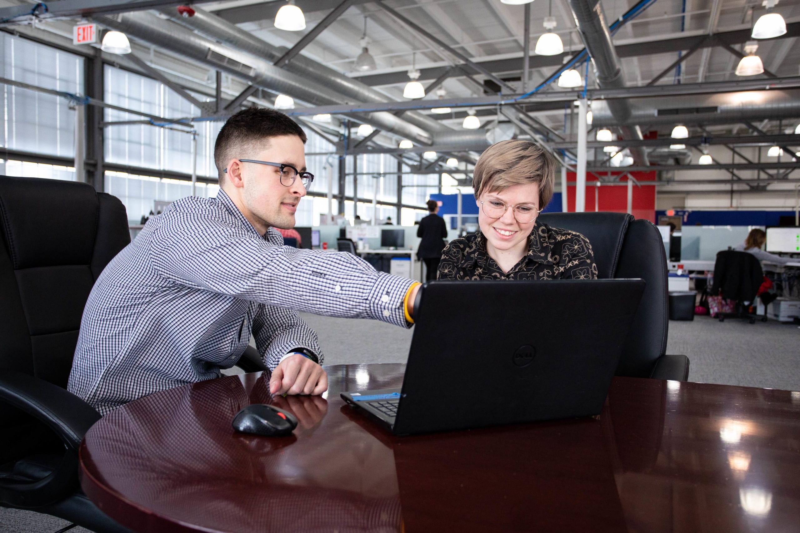 digital marketing team works on reputation management
