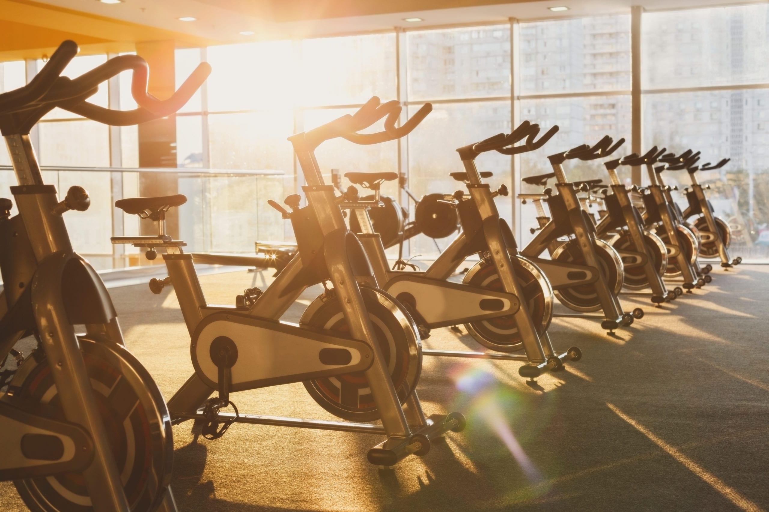 fitness gym exercise bikes