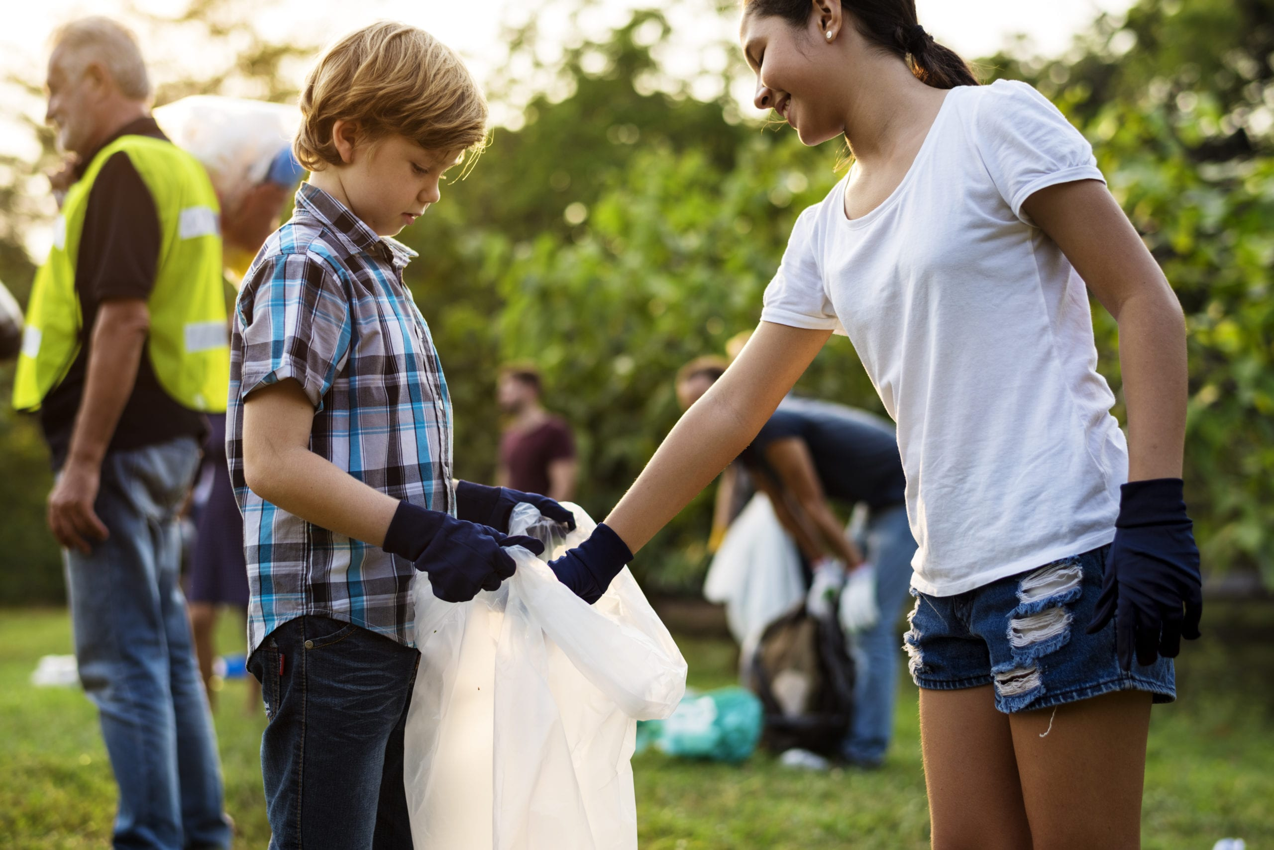 nonprofit organization event kids pickup trash
