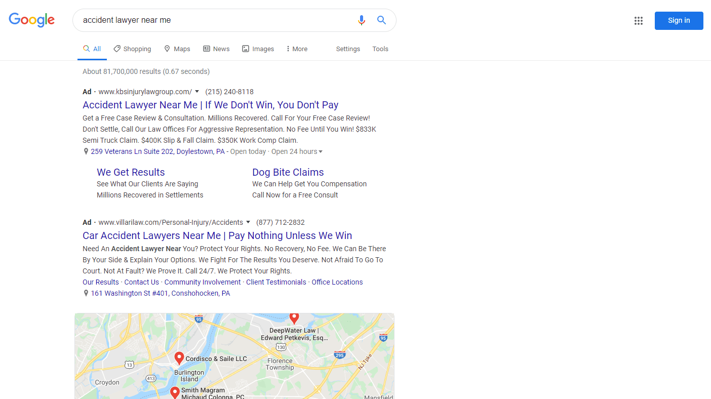 ppc ads for lawyer