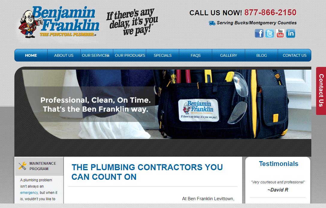 website design home services plumbing