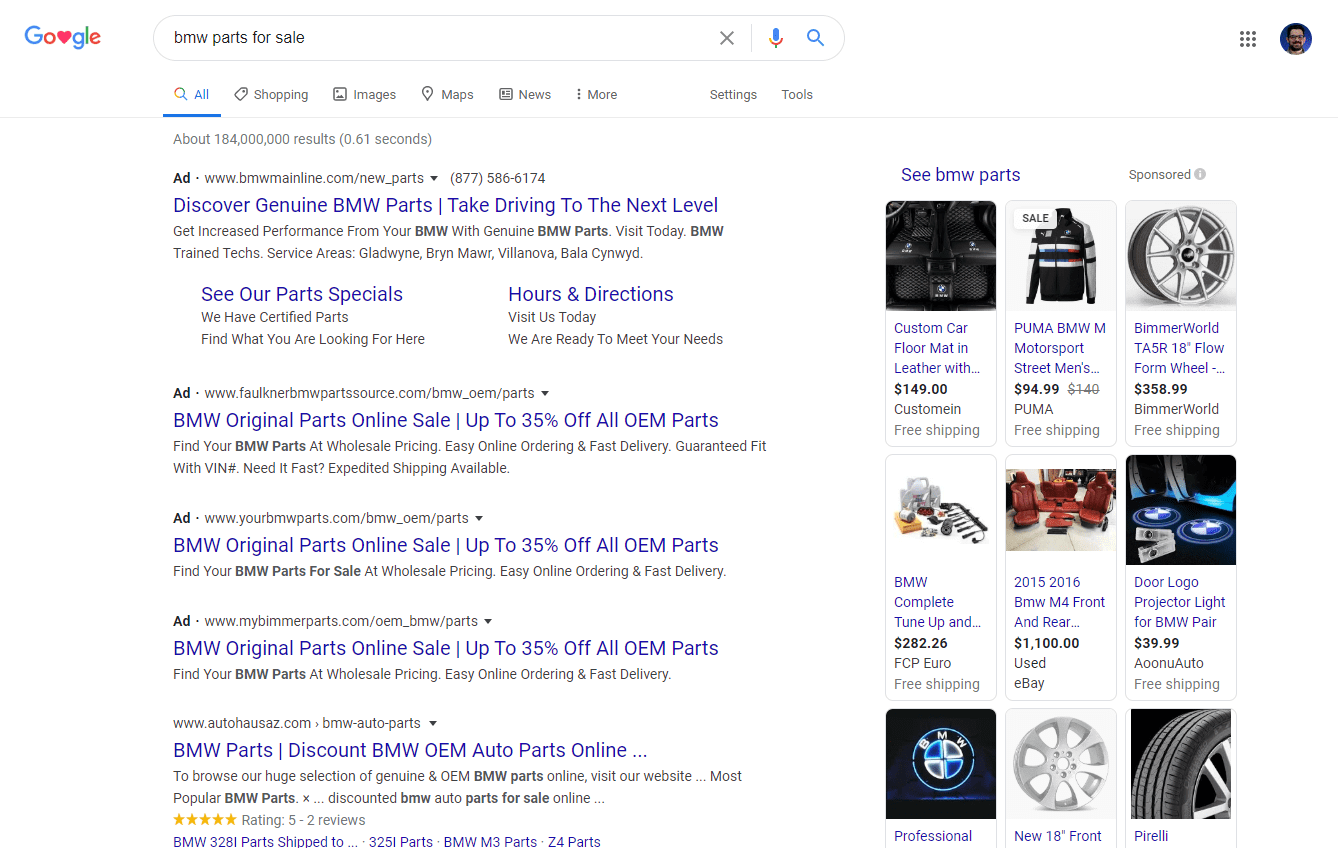google-search-results-ecommerce