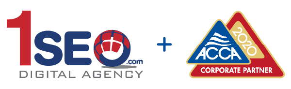 1SEO logo & ACCA Partner Badge