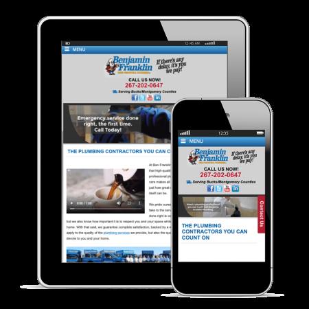 plumbing responsive website design